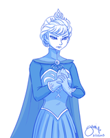 Queen Elsa by Yamino