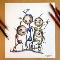 Teletubbies Creepy Drawing by AtomiccircuS