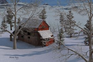 Winter Barn by Dani3D