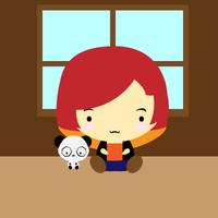 Me and the Panda by pixelatedpoison