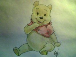 Pooh Bear Commission by KayceeMuffins