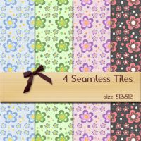 Seamless Floral Tiles 1 by BubbleCloud