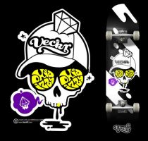 VecKR - skate deck by oxidizzy