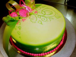 green fun cake 2 by buttercreamfantasies