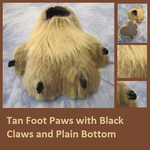 Tan Foot Paws with Black Claws by Lascivus-Lutra