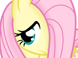 Fluttershy Hiding by Bird-Spirit