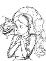 Alice in Wonderland, sketch by Accolay