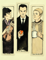 Sherlock BBC bookmarks by UnPredictableGirl