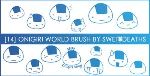 Onigiri world brush set by swetdeaths