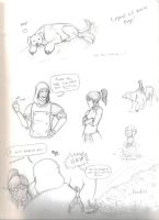 Legend of Korra doodle dump by Dino-blankey