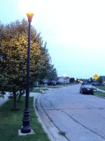 Morning Streetlights by jadeeybear