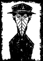 Symmetry of a Plague doctor by Bottled-Love