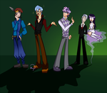 Fanart: Human BronyCurious, AnY, Digi and Byter. by LethalAuroraMage