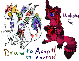 Pinata Draw To Adopts (Closed) by Stitched-Raven