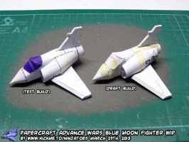 Papercraft Advance Wars Blue Moon Fighter WIP 3 by ninjatoespapercraft