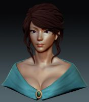 Female Bust WIP by YeeWu