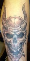 horned skull by arcaneserpent