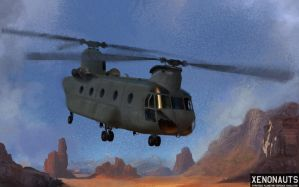 Xenonauts Chinook by geors