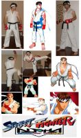 STREET FIGHTER Alpha Ryu Cosplay Collage by IronCobraAM