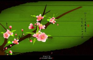 peach blossom PNG*8 by Benyol