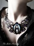 OOAK Gothic victorian necklace 'The Corpse Bride' by TheSpiderStratagem