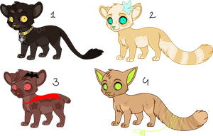 Feline adoptebles {Offer to adopt} CLOSED by LoserDoge