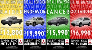 Sunny King Mitsubishi Spread by merrypranxter