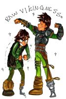 Hiccup: THAT MUSCLE by shadowpiratemonkey7