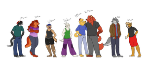 Character height comparison by Wasimu