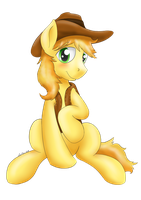 sitting Braeburn by Lardon-Draconis