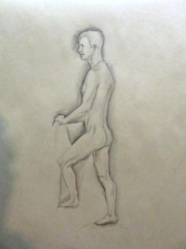 Life Drawing Sketch - 20(?) Min by LazerWhale