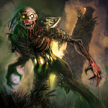 Stomachless Ghoul by hungerartist
