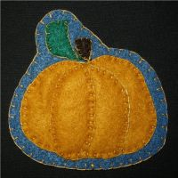 October Magnet - Pumpkin by UrsulaPatch