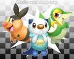 Black and White Starters - Group Shot by Nyaasu