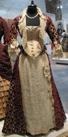 Red Victorian Dress Stock by Avestra-Stock