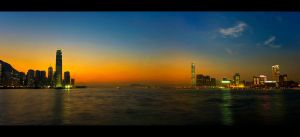 Hong Kong Sunset Pano by WiDoWm4k3r