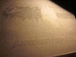 American Psycho stencil making teaser by heinpold