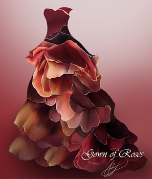 Gown of Roses by BrookeGillette