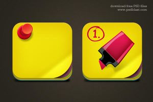 Free Download Sticky Note Icon PSD for Mac by psdblast
