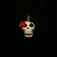 Skull Rose necklace by CookingMaru