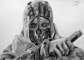 Dishonored Corvo Attano - Fan Art Drawing by LethalChris