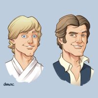 Luke and Han by D-MAC