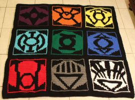 Lantern Corp Blanket Front/Symbols by ruiaya
