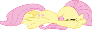 Fluttershy cowers down by Skie-Vinyl