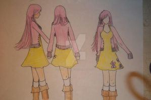 Fluttershy Cosplay Sketch by randomawesomechick