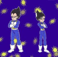 Me and Me: Vegeta by starrdust411