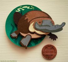 Duck-Billed Platypus Cut-Out Magnet by WonderDookie
