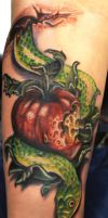 Eve Apple and Snake by Mikeashworthtattoos
