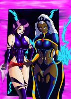 Storm And Psylocke by EPICamiture2099