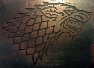 A Song of Ice and Fire: House Stark insignia by cuestickGenius